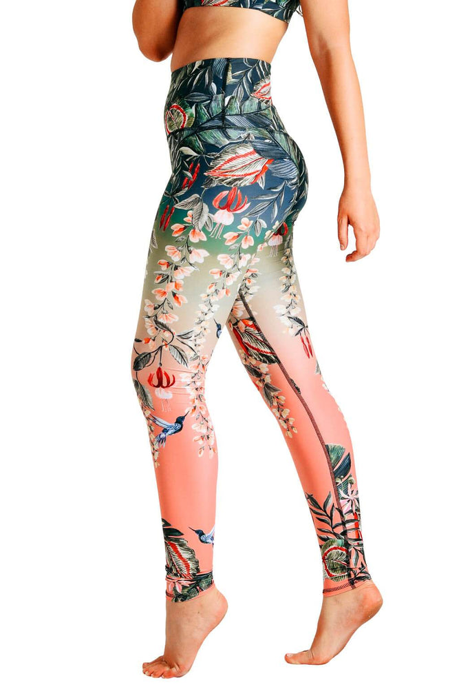 Feeling Ferntastic Printed Yoga Leggings