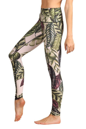 Yoga Democracy Leggings Leaf it to Me Printed Yoga Leggings