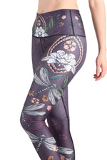 Yoga Democracy Leggings Fly by Night Printed Yoga Legging - Final Sale