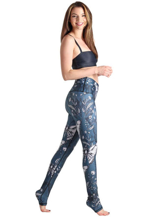 Yoga Democracy Leggings Winging Moves Printed Yoga Legging