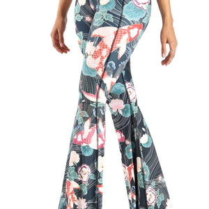 Clever Koi Printed Bell Bottoms