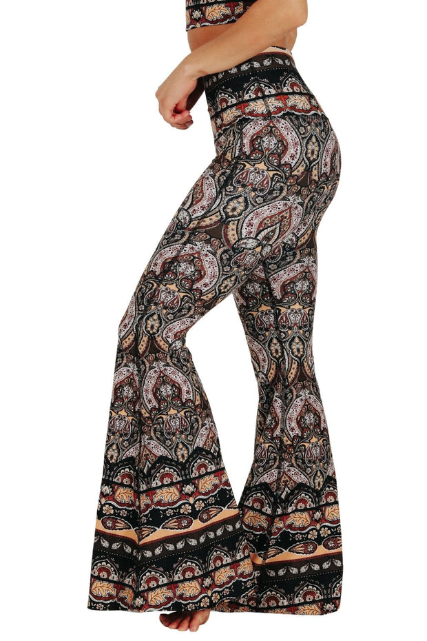 Espresso Yourself Printed Bell Bottoms 1