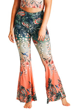 Feeling Ferntastic Printed Bell Bottoms