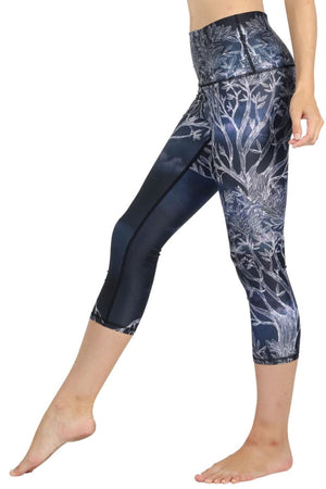 Yoga Democracy Leggings Root to Rise Printed Yoga Crops
