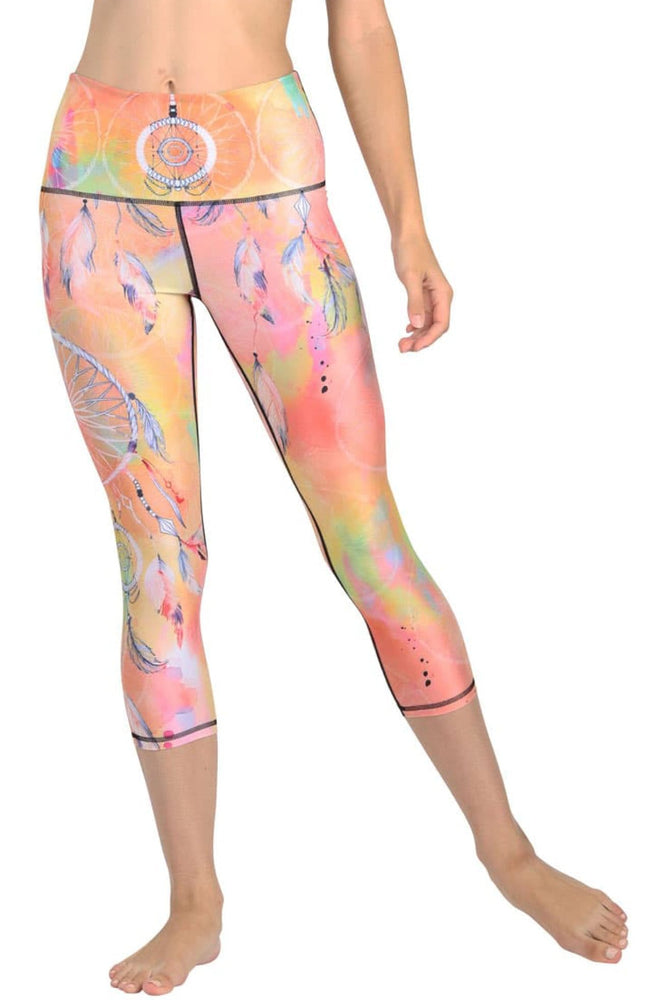 Papa Don't Peach Printed Yoga Crops