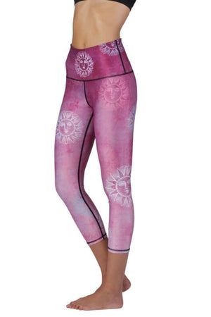 Yoga Democracy Leggings Sun Salutation Printed Yoga Crops