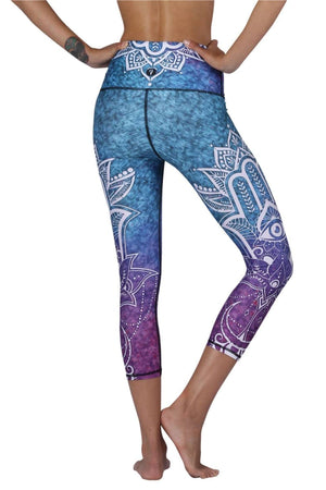 Yoga Democracy Leggings Third Eye Chakra Printed Yoga Crops
