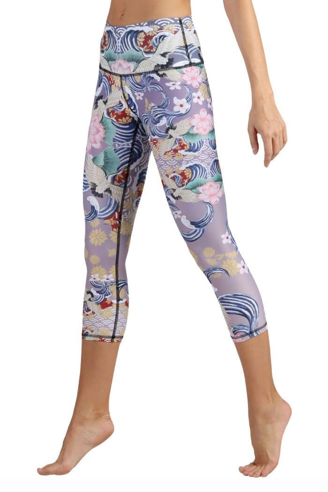 Yoga Democracy Leggings Zen Water Garden Printed Yoga Crops
