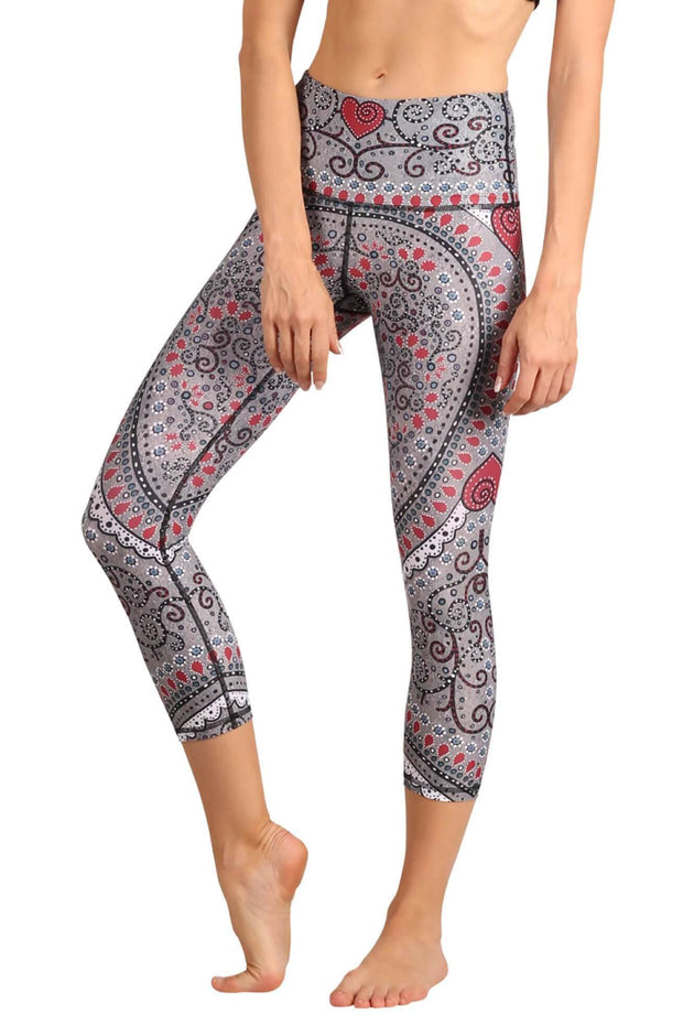 Heart to Follow Printed Yoga Crops 1