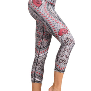 Heart to Follow Printed Yoga Crops