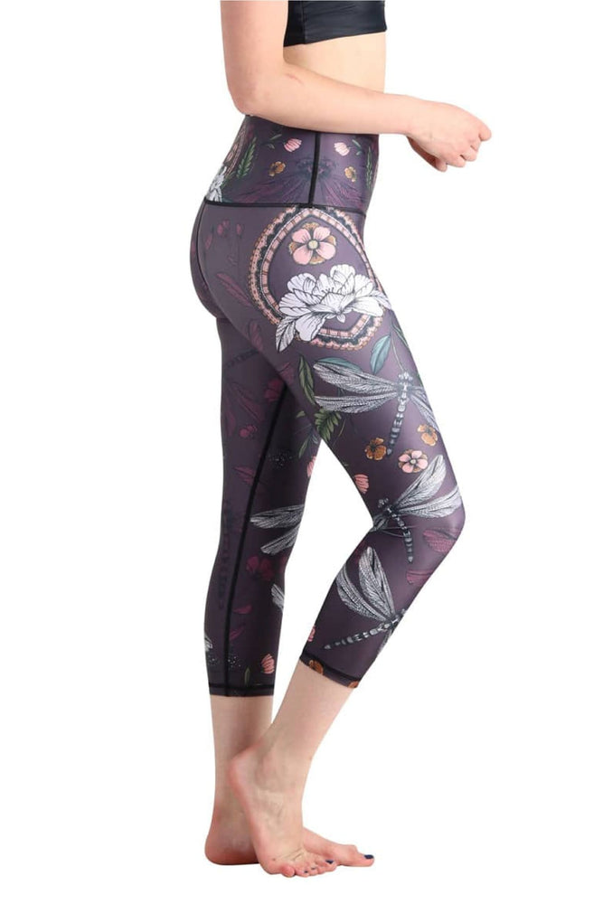 Fly by Night Printed Yoga Crops - Final Sale