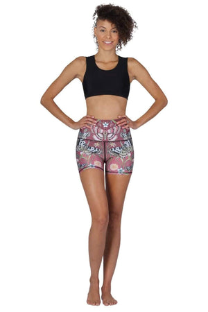 Yoga Democracy Shorts The Joey Yoga Short in Pretty in Pink