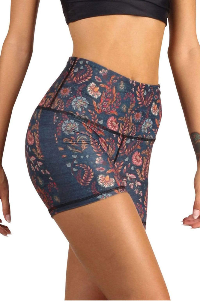 Yoga Democracy Shorts The Joey Yoga Short in Festival Denim