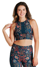 Free Range Sports Bra in Festival Denim