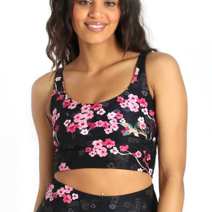 Limitless Sports Bra in Cherry Bloomin - Medium Support, A - E Cups