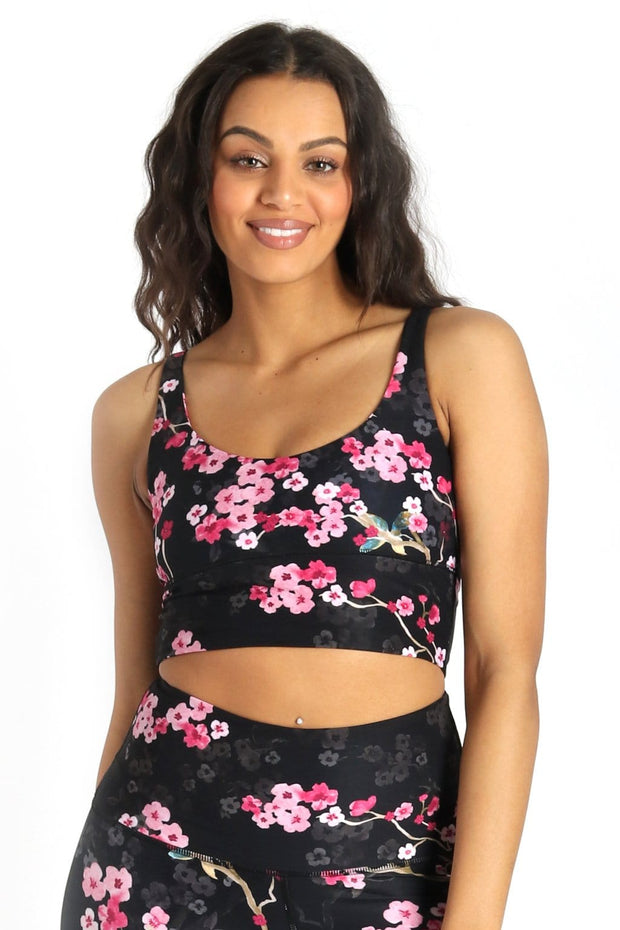 Limitless Sports Bra in Cherry Bloomin - Medium Support, A - E Cups 1