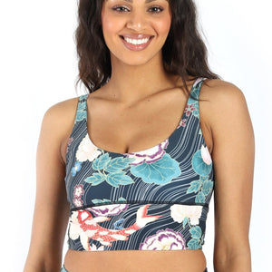 Limitless Sports Bra in Clever Koi - Medium Support, A - E Cups