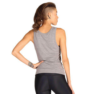 Yoga Democracy Graphic Top Warrior Too - Bamboo Organic Tank Tee