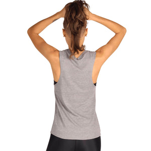 Yoga Democracy Graphic Top Free Range Human - Bamboo Organic Muscle Tee