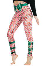 Candy Cane Madness Printed Yoga Leggings