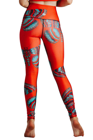 Yoga Democracy  Bright Flight Printed Yoga Legging