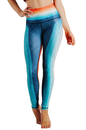 Yoga Democracy  Retro Rainbow Printed Yoga Leggings