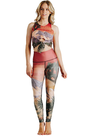 Yoga Democracy  Desert Oasis Printed Yoga Legging