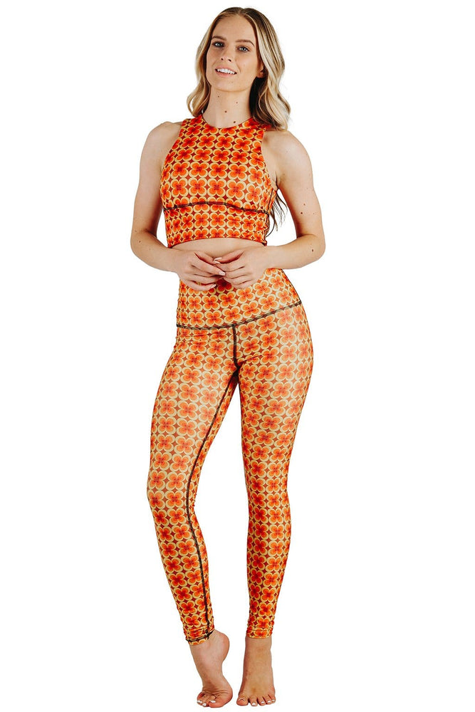 Yoga Democracy  Groovy Girl Printed Yoga Leggings