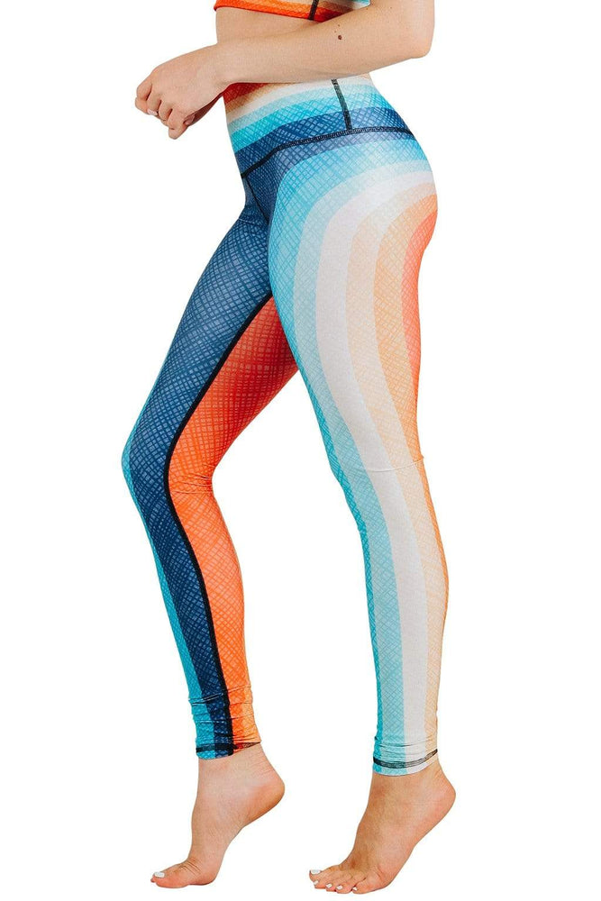 Retro Rainbow Printed Yoga Leggings
