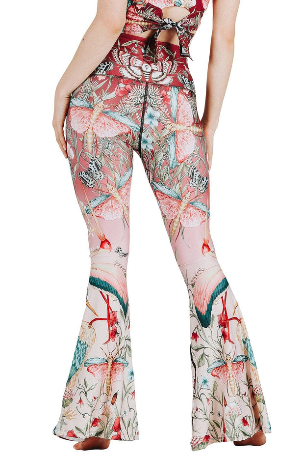 Pretty In Pink Printed Bell Bottoms 1