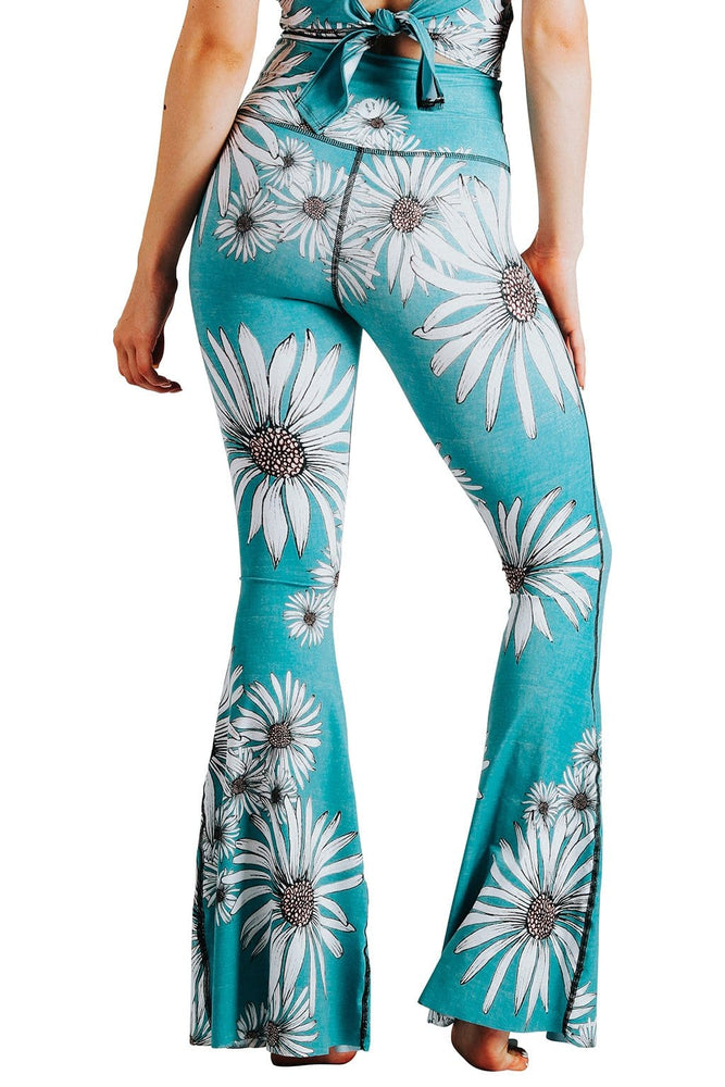 Yoga Democracy Leggings Flower Child Printed Bell Bottoms