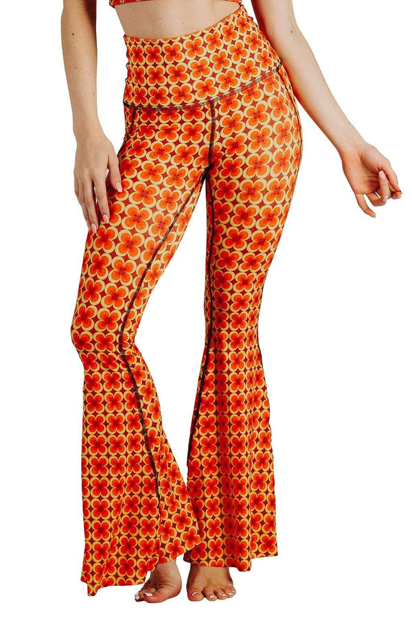 Yoga Democracy Groovy Girl Printed Bell Bottoms