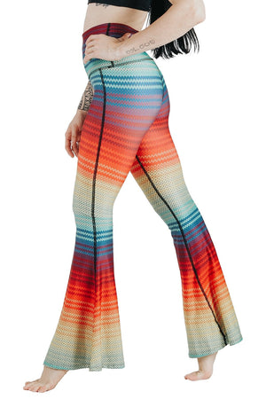Rainbow Stripe Printed Bell Bottoms (4359787315338)