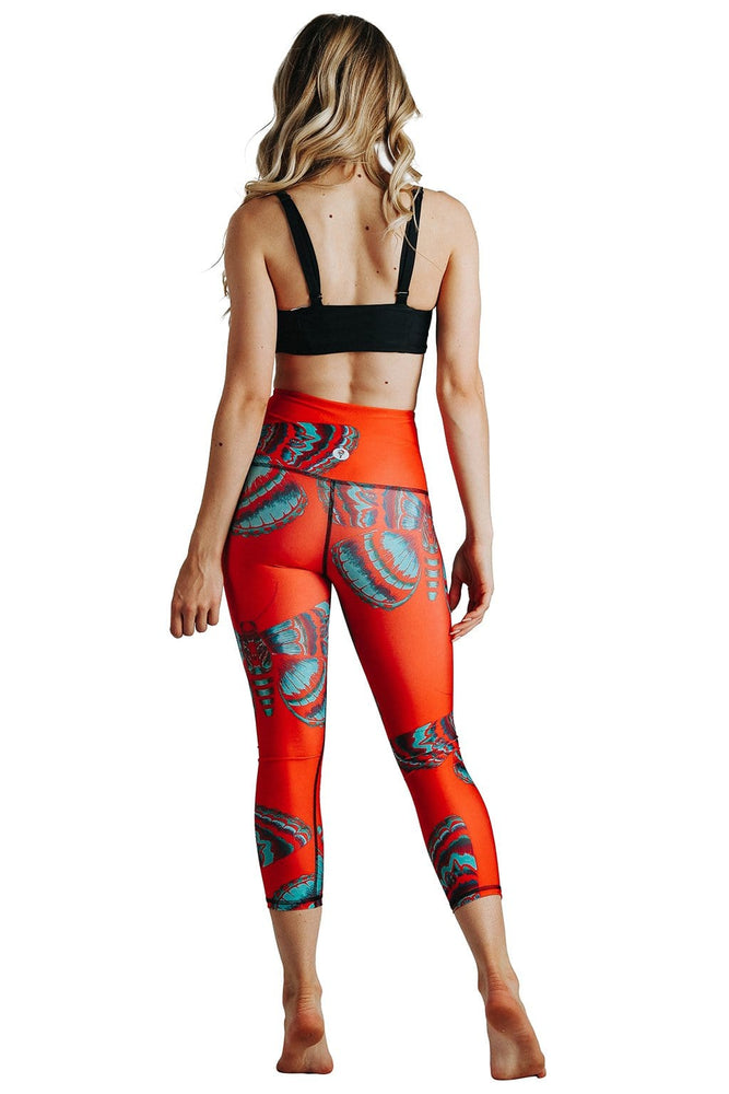 Yoga Democracy Leggings Bright Flight Printed Yoga Crops