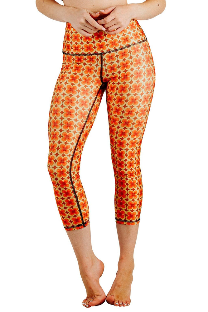 Yoga Democracy Leggings Groovy Girl Printed Yoga Crops
