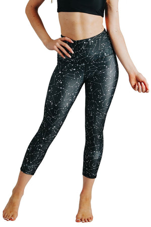 Yoga Democracy Leggings Star Dust Printed Yoga Crops