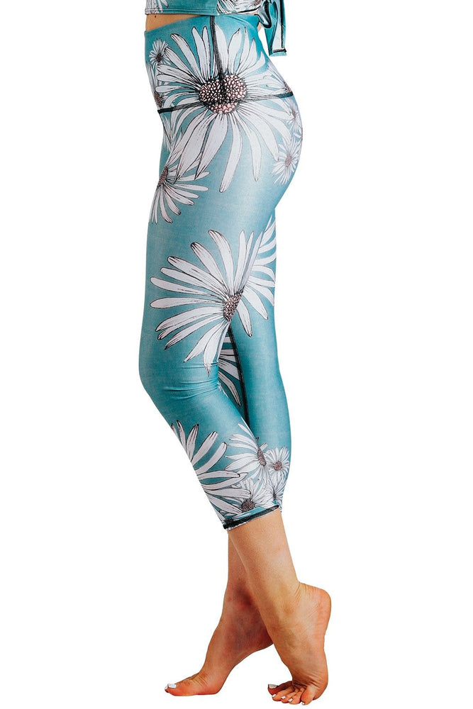 Flower Child Printed Yoga Crops