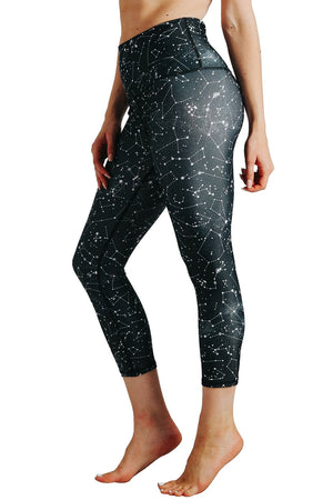 Yoga Democracy  Star Dust Printed Yoga Leggings