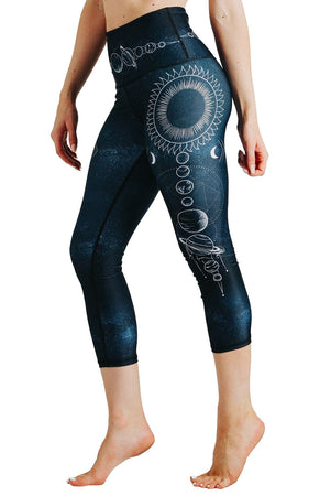 Yoga Democracy Leggings Planet Based Printed Yoga Crops
