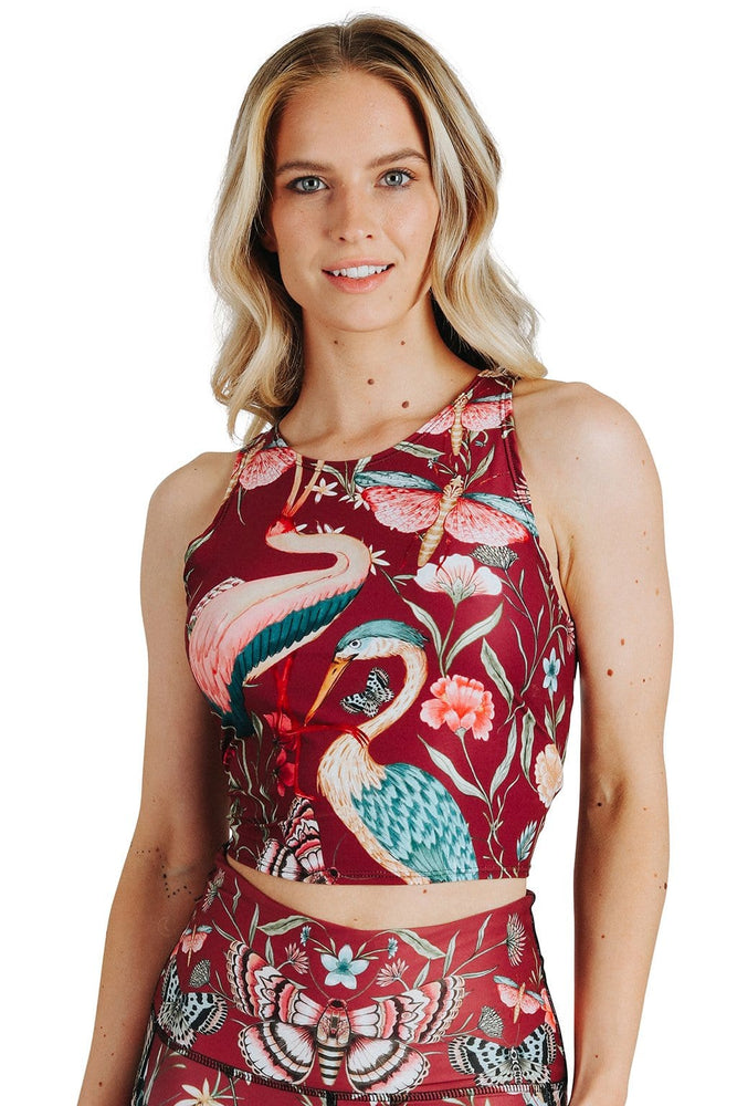Yoga Democracy Tops Reversible Knot Top in Pretty In Pink