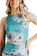 Yoga Democracy Tops Reversible Knot Top in Flower Child