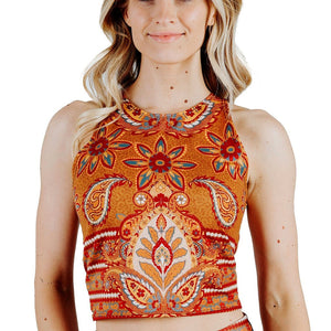 Reversible Knot Top in Rad Paisley
