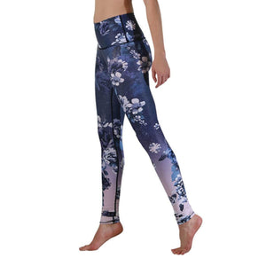 Yoga Democracy Leggings Flowerful Printed Yoga Leggings