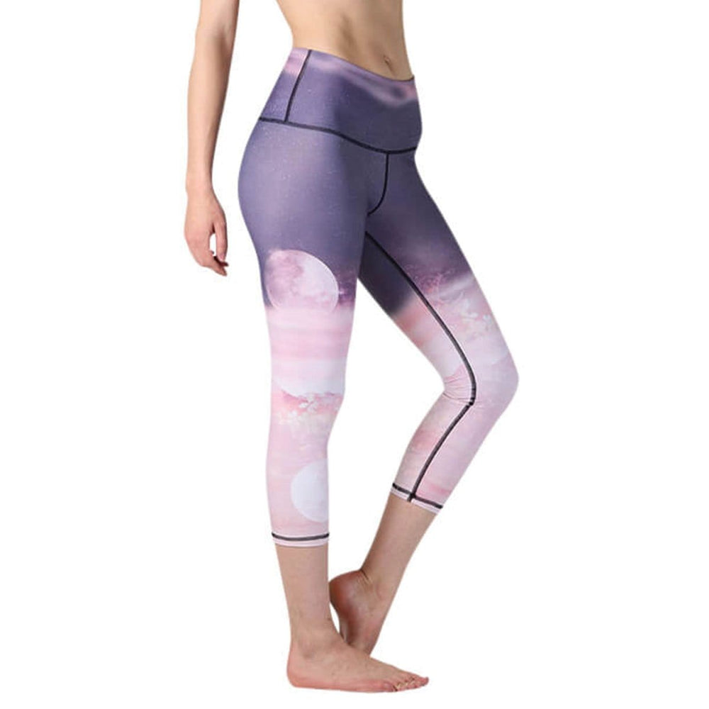 Lunar The Better Printed Yoga Crops - Final Sale