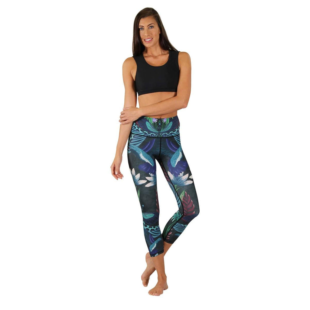 Yoga Democracy Leggings Dragonfly Night Flight Yoga Crops- Vault