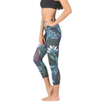 American Made Leggings by Yoga Democracy Dragonfly Night Flight Yoga Crops- Vault