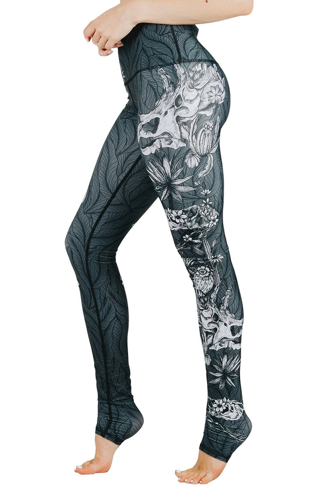 Fossil Chic Printed Yoga Leggings