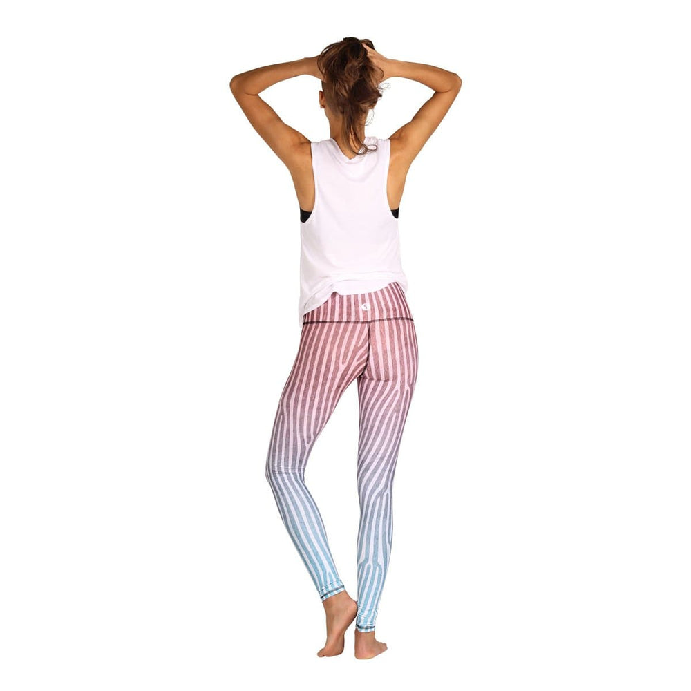 Yoga Democracy Leggings Ombre Printed Yoga Leggings - Final Sale