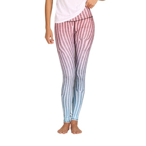Yoga Democracy Leggings Ombre Printed Yoga Leggings - Final Sale (1367564910692)