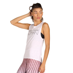 American Made Apparel & Accessories > Clothing > Shirts & Tops by Yoga Democracy Free Range Human - Bamboo Organic Muscle Tee -White